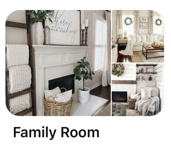 Pinterest Board Family Room