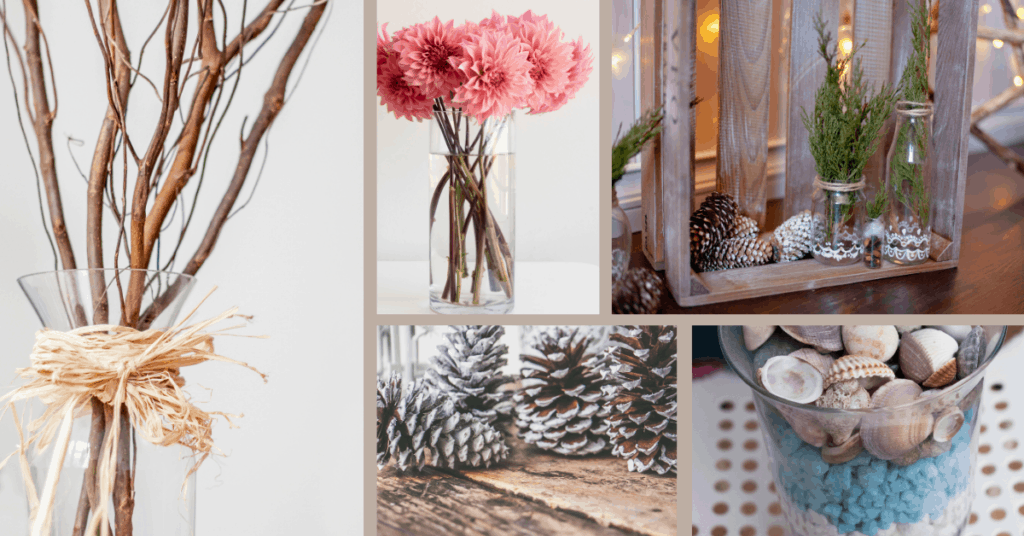 decorating on a budget with nature