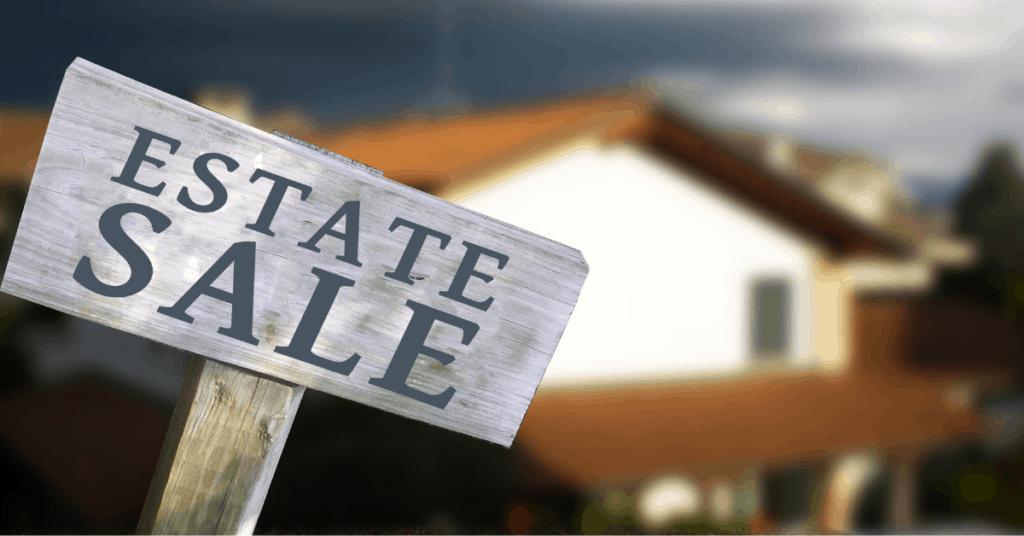 estate sale sign decorating on a budget