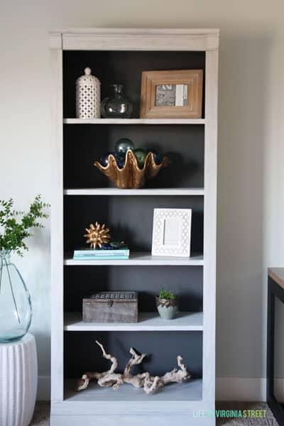 decor on budget update bookshelf
