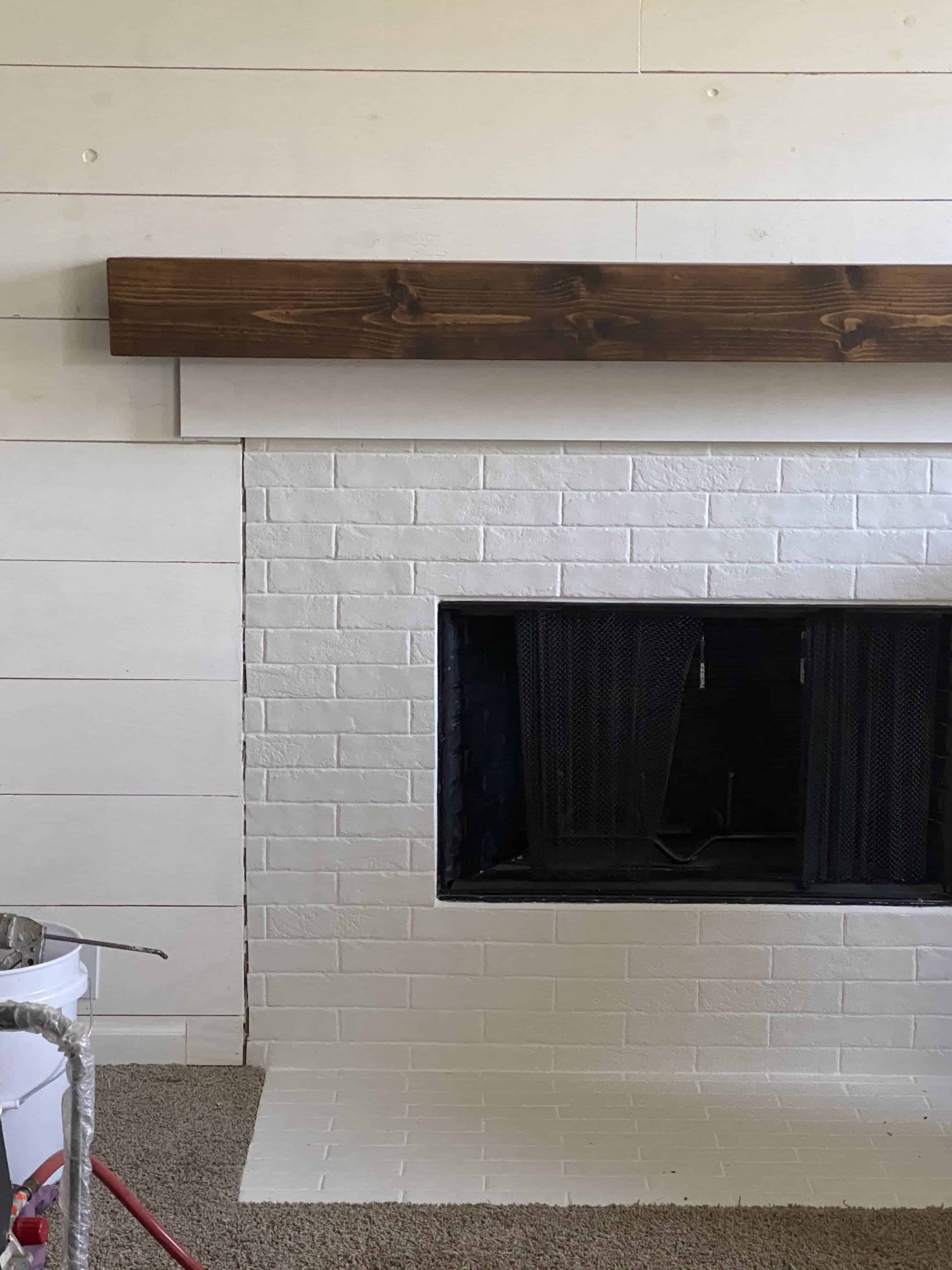 Fireplace Remodel Top piece of trim