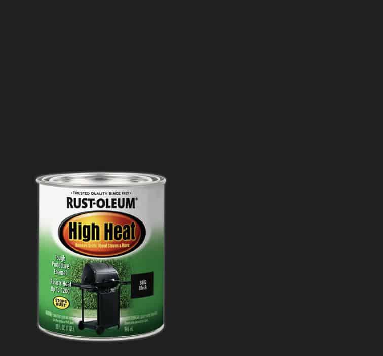 Rust-oleum high heat paint black