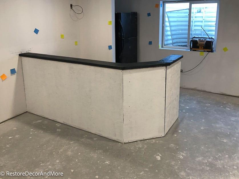Add Plywood to dry bar