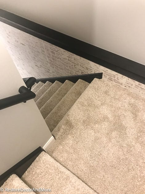 brick wall going down stairs