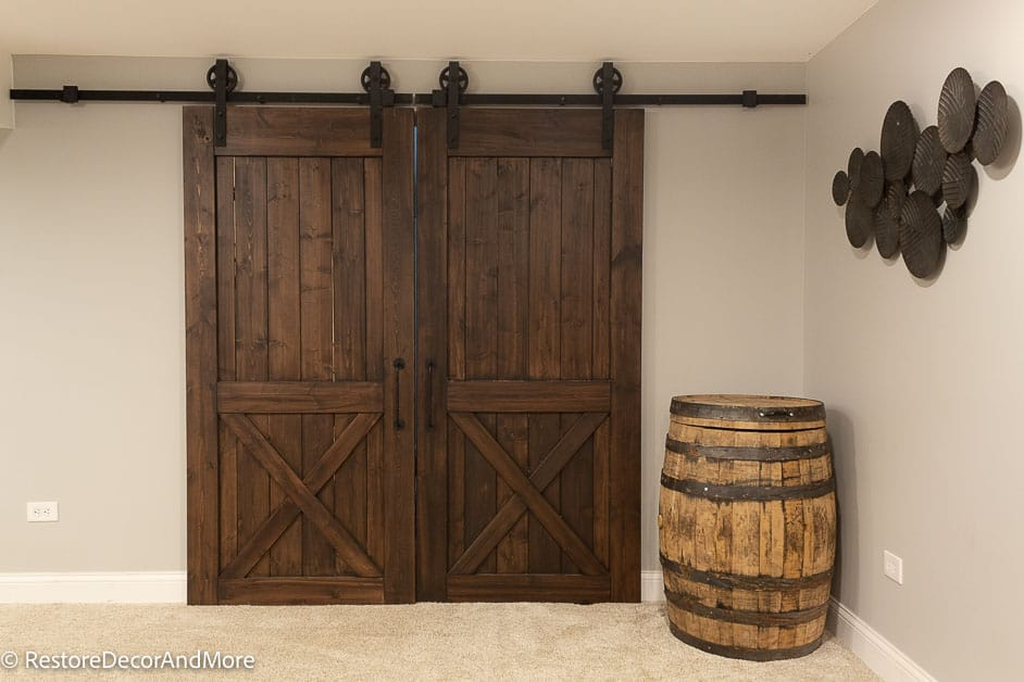 Basement Barn Doors