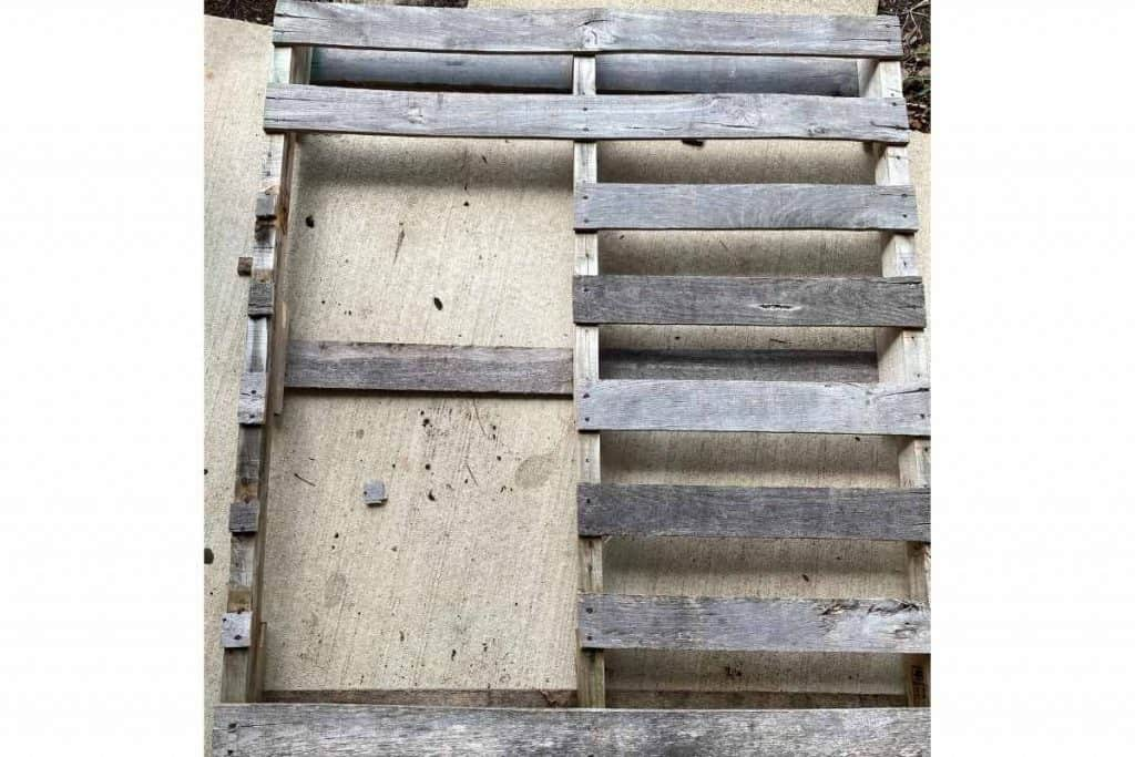 pieces removed from pallet