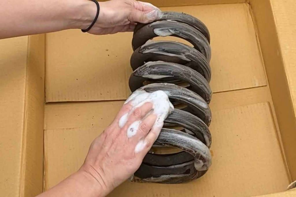 Cleaning Railroad Spring