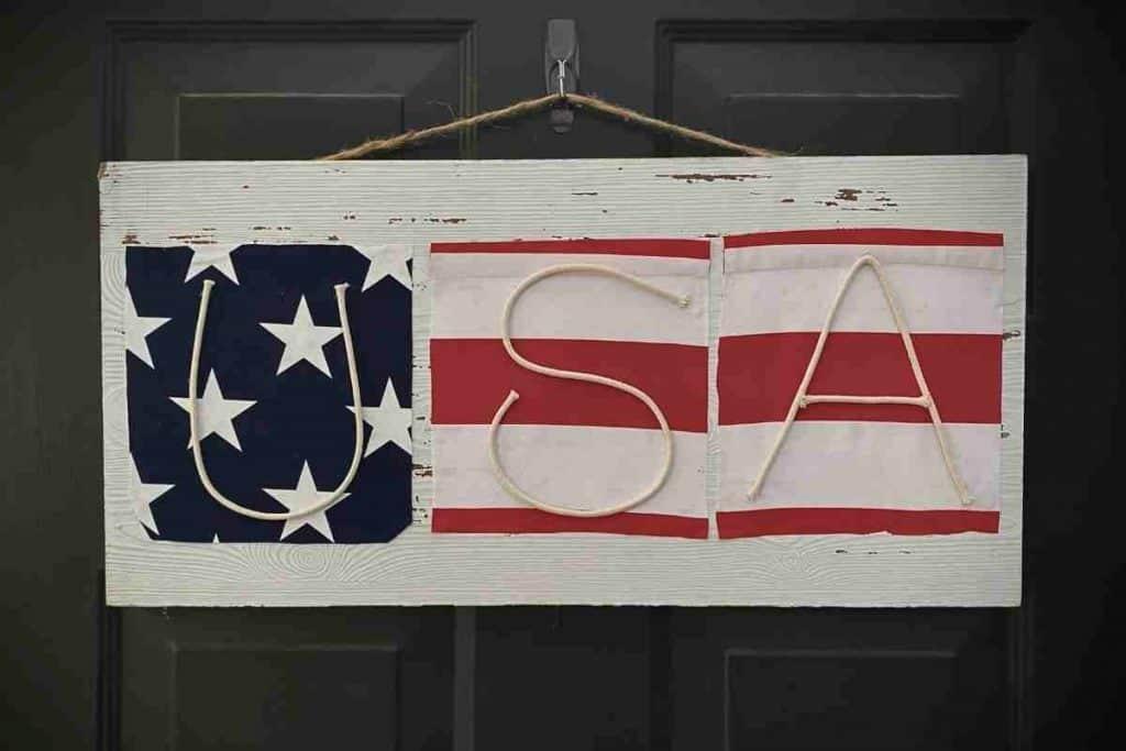 DIY USA SIGN FOR WALL