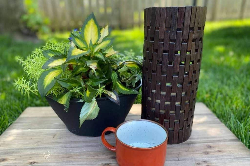 thrift store diy candle holder