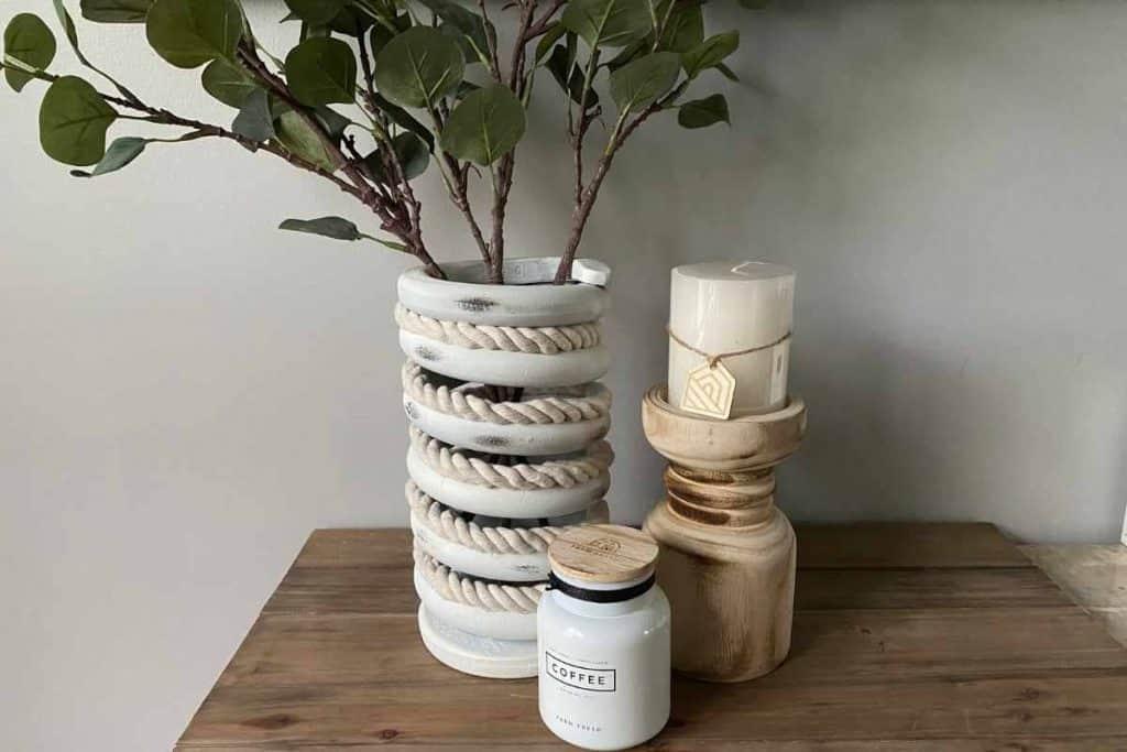 DIY Railroad Spring Vase After