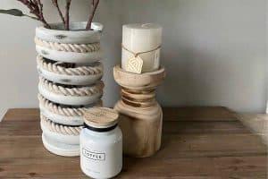 Railroad Spring Vase DIY After