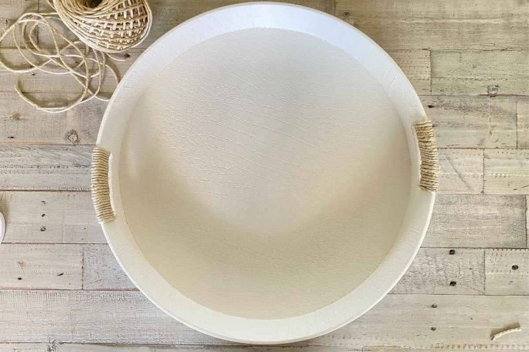 Thrift Store Round Tray Makeover