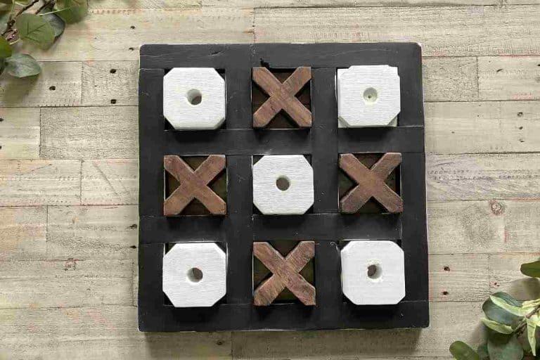 Tic Tac Toe Board Makeover – Farmhouse Style