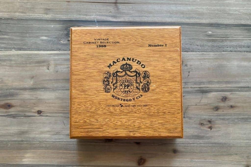 Vintage Cabinet Selection 1988 Cigar Box