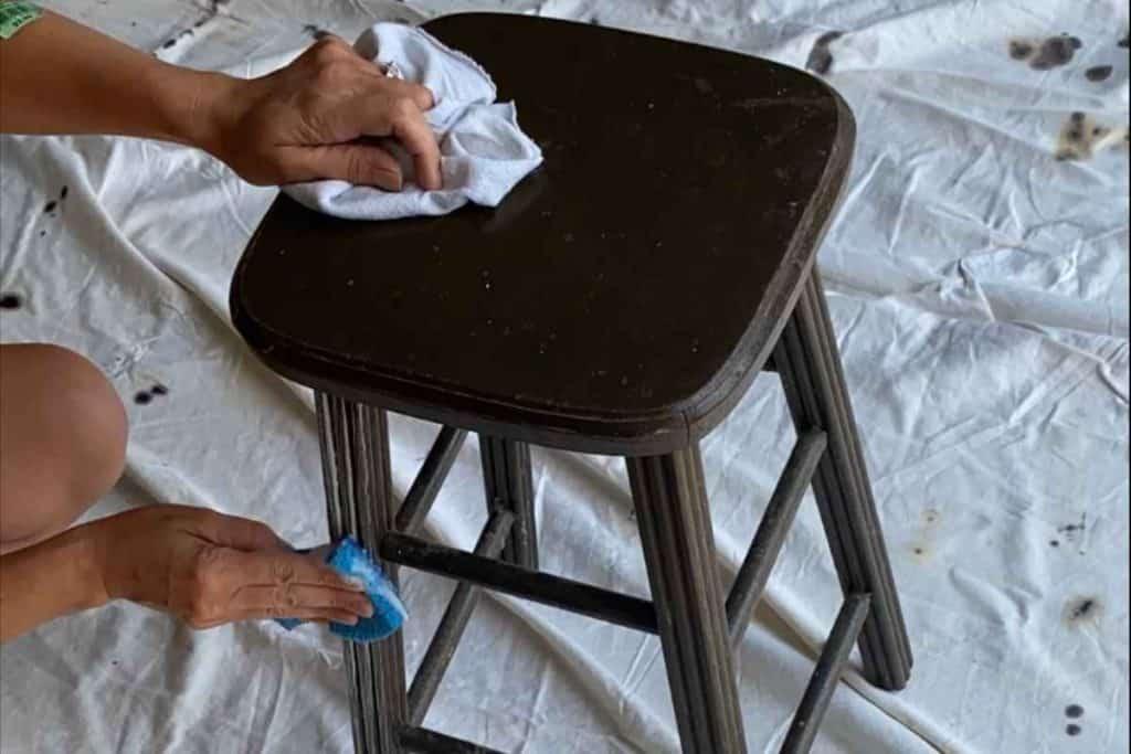 Clean Old Vintage Bar Stool