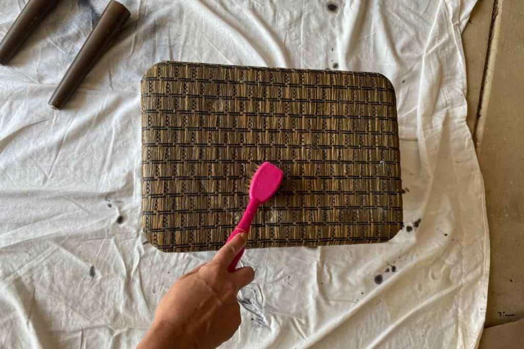 clean vintage sewing box