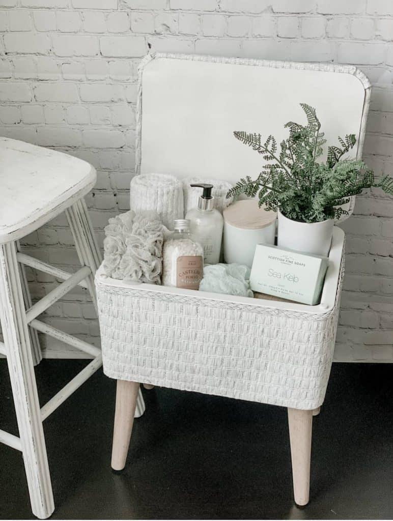 sewing basket makeover
