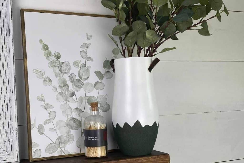 thrift store vase upcycle with handles