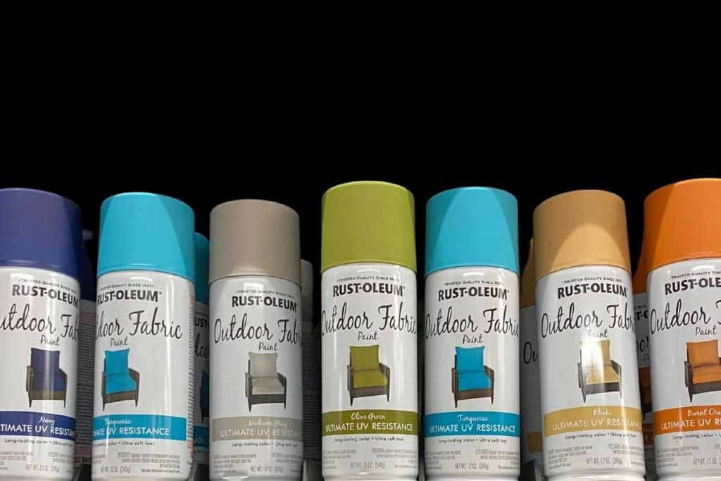spray painting outdoor fabric colors