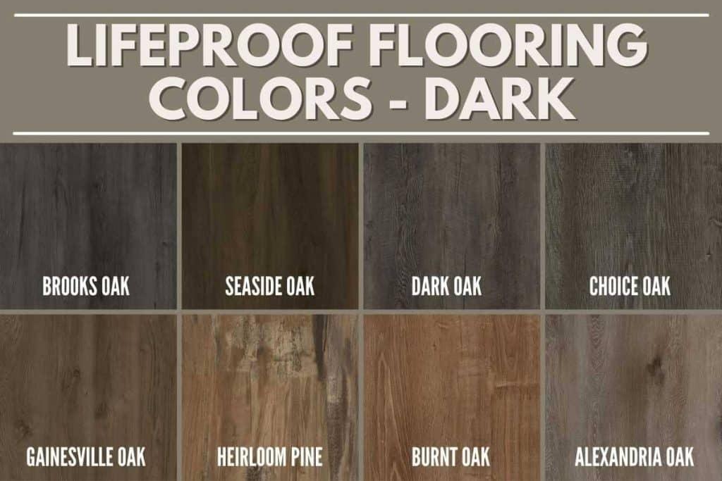 lifeproof flooring colors dark