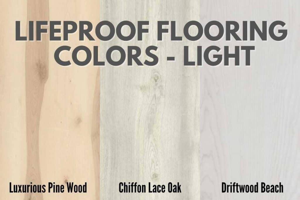 lifeproof flooring colors light