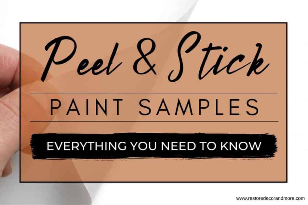 peel and stick paint samples